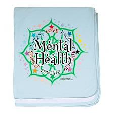 Mental Health Lotus baby blanket