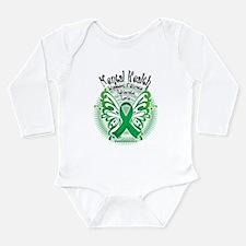 Mental Health Butterfly 3 Long Sleeve Infant Bodys