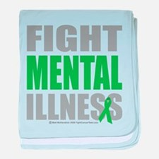 Fight Mental Illness baby blanket