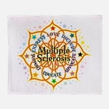 Multiple Sclerosis Lotus Throw Blanket