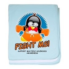 Fight MS Penguin baby blanket