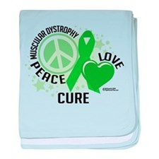 Muscular Dystrophy Peace Love baby blanket