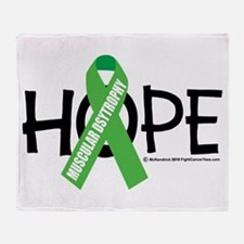 Muscular Dystrophy Hope Throw Blanket