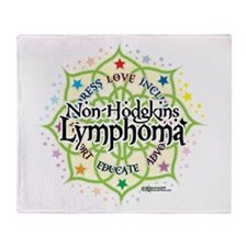 Non-Hodgkins Lymphoma Lotus Throw Blanket