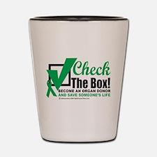 Organ Donor Check The Box Shot Glass