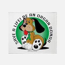 Organ Donor Dog Throw Blanket