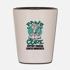 Ovarian Cancer Paws for the C Shot Glass