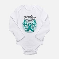 Ovarian Cancer Butterfly 2 Long Sleeve Infant Body
