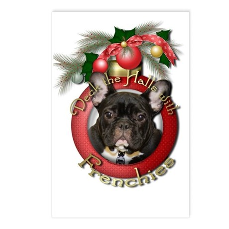 Christmas - Deck the Halls - Frenchies Postcards (