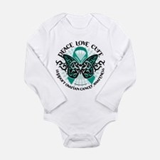 Ovarian Cancer Tribal Butterf Long Sleeve Infant B