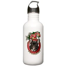 Christmas - Deck the Halls - Frenchies Water Bottle