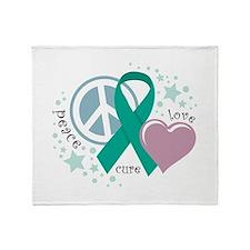 Ovarian Cancer PLC Throw Blanket