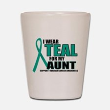 OC: Teal For Aunt Shot Glass