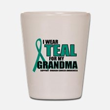 OC: Teal For Grandma Shot Glass