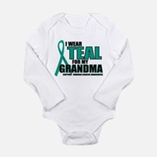 OC: Teal For Grandma Long Sleeve Infant Bodysuit