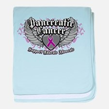 Pancreatic Cancer Wings baby blanket