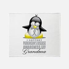 Parkinson's Penguin for Grand Throw Blanket