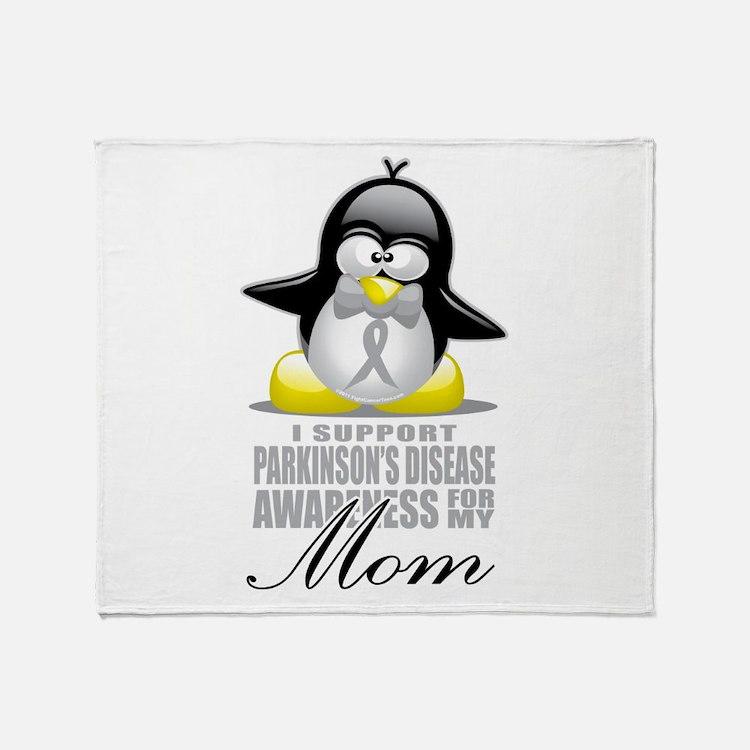 Parkinson's Penguin for Mom Throw Blanket