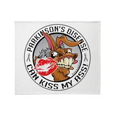 Parkinson's Disease Can Kiss Throw Blanket