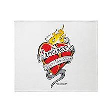 Parkinson's Tattoo Heart Throw Blanket