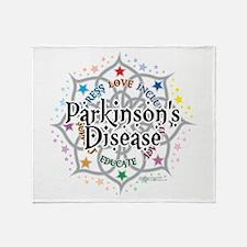 Parkinson's Disease Lotus Throw Blanket