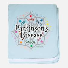 Parkinson's Disease Lotus baby blanket