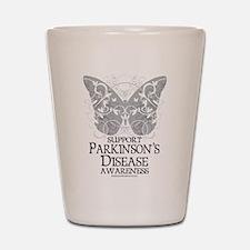 Parkinson's Disease Butterfly Shot Glass