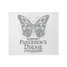 Parkinson's Disease Butterfly Throw Blanket