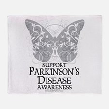 Parkinson's Disease Butterfly Throw Blanket
