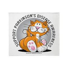 Parkinson's Disease Cat Throw Blanket