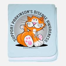 Parkinson's Disease Cat baby blanket