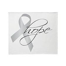 Parkinson's Ribbon Hope Throw Blanket