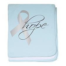 Parkinson's Ribbon Hope baby blanket
