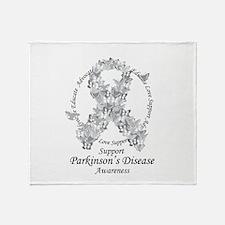 Parkinson's Butterfly Ribbon Throw Blanket