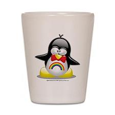 Rainbow Penguin Shot Glass