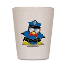Police Penguin Shot Glass