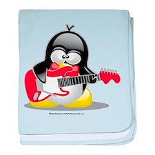 Electric Guitar Penguin baby blanket