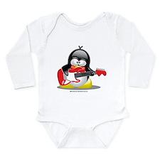 Electric Guitar Penguin Long Sleeve Infant Bodysui