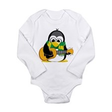 Acoustic Guitar Penguin Scarf Long Sleeve Infant B
