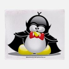 Vampire Penguin Throw Blanket