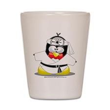 Karate Penguin Shot Glass