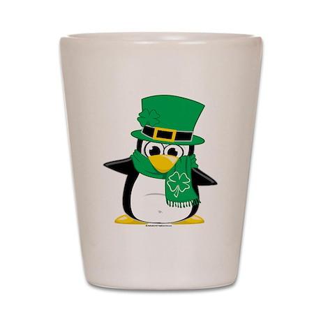 Irish Penguin Scarf Shot Glass
