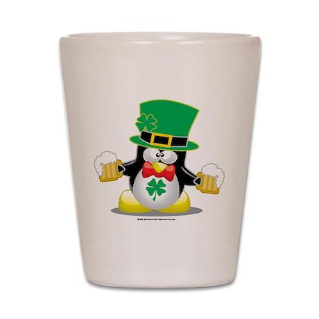 Irish Penguin Shot Glass