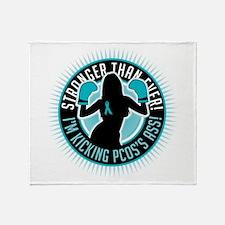 PCOS Boxing Girl Throw Blanket