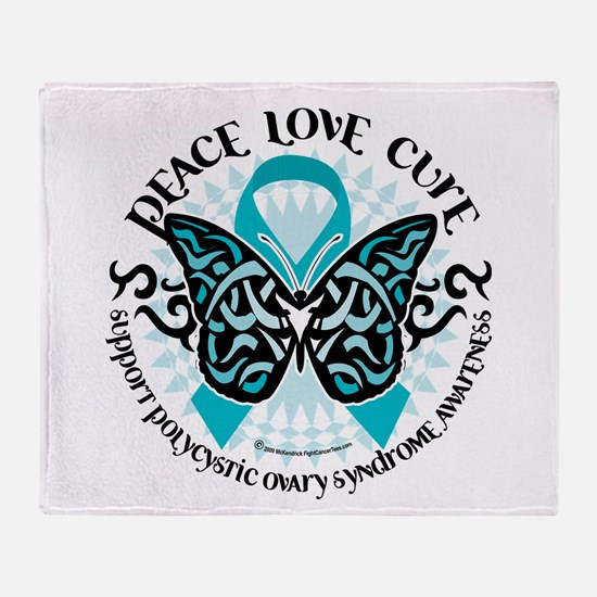 PCOS Tribal Butterfly Throw Blanket