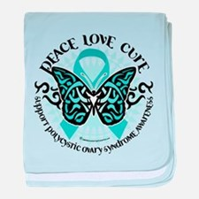 PCOS Tribal Butterfly baby blanket