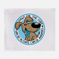 Paws for the Cure: Prostate C Throw Blanket