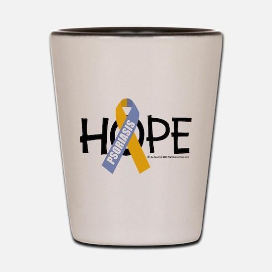 Psoriasis Hope Shot Glass