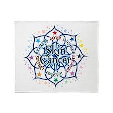 Skin Cancer Lotus Throw Blanket