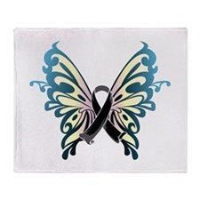 Skin Cancer Butterfly Throw Blanket